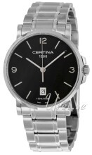 Certina DS Caimano Gent Sort/Stål Ø38 mm