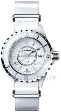 Chanel J12 Hvid/Læder
