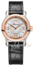 Chopard Happy Sport 30 MM Automatic Sølvfarvet/Læder