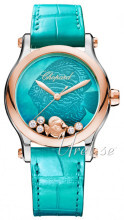 Chopard Happy Fish 36 MM Automatic Blå/Læder