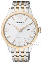 Citizen Eco Drive 180 Hvid/Gul guldtonet stål