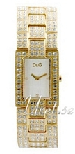 Dolce & Gabbana D&G Hvid/Gul guldtonet stål 28x23 mm