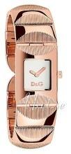Dolce & Gabbana D&G Sølvfarvet/Rosaguldtonet stål 22x22 mm