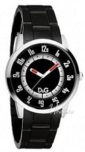 Dolce & Gabbana D&G Aspen Black Dial Rubber