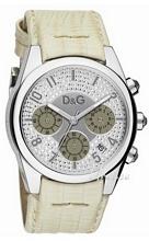Dolce & Gabbana D&G Sandpiper Silver Dial Leather Strap