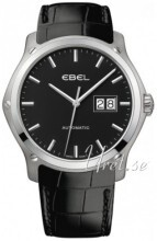 Ebel Classic Hexagon Sort/Læder Ø41 mm