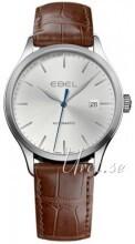 Ebel Classic 100 Sølvfarvet/Læder
