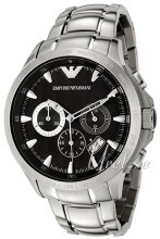 Emporio Armani Mens Sort/Stål Ø46 mm