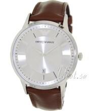 Emporio Armani Sølvfarvet/Læder