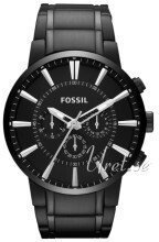 Fossil Chronograph Sort/Stål Ø48 mm