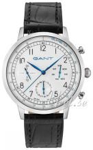 Gant Sølvfarvet/Læder Ø42 mm
