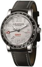 Graham Silverstone Time Zone Sølvfarvet/Læder Ø42 mm