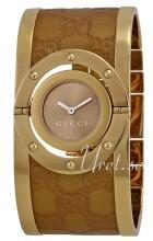 Gucci Twirl Brun/Gul guldtonet stål