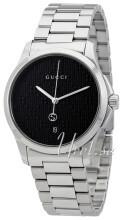 Gucci G-Timeless Sort/Stål Ø38 mm