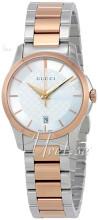 Gucci G-Timeless Sølvfarvet/Rosaguldtonet stål Ø27 mm