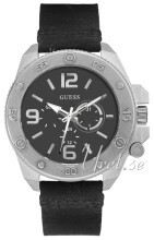 Guess Viper Sort/Læder Ø46 mm