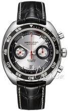 Hamilton American Classic Timeless Pan Europ Sølvfarvet/Læder