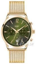 Henry London Richmond Grøn/Gul guldtonet stål