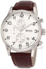 Hugo Boss Chronograph Sølvfarvet/Læder