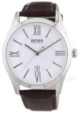 Hugo Boss Sølvfarvet/Læder Ø44 mm