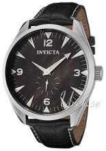 Invicta Vintage Sort/Læder Ø49.5 mm