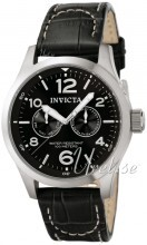 Invicta I-Force Military Sort/Læder