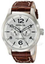 Invicta II Sølvfarvet/Læder