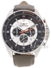 Invicta S1 Sølvfarvet/Læder