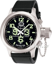 Invicta Russian Diver Sort/Læder Ø51.5 mm