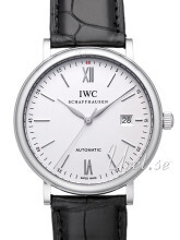 IWC Portofino Sølvfarvet/Læder Ø40 mm