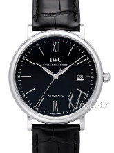 IWC Portofino Sort/Læder Ø40 mm