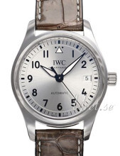 IWC Pilots Classic Sølvfarvet/Læder Ø36 mm