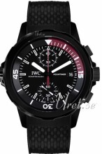 IWC Aquatimer Sort/Gummi Ø44 mm
