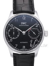 IWC Portuguese Sort/Læder Ø42.3 mm