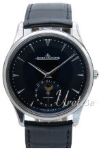 Jaeger LeCoultre Master Ultra Thin Moon Stainless Steel Sort/Læd