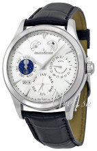 Jaeger LeCoultre Master Eight Days Perpetual Stainless Steel Søl