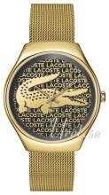Lacoste Sort/Gul guldtonet stål