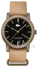 Lacoste Sort/Læder Ø42 mm