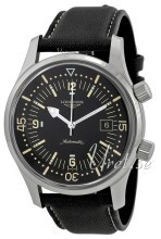 Longines Heritage Black Dial Syntetic Strap Black