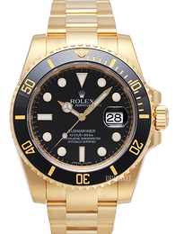 Rolex Submariner Sort/18 karat guld Ø40 mm 116618LN-0001