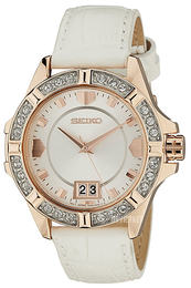 Seiko Dress Ladies Sølvfarvet/Læder Ø36 mm SUR800P1