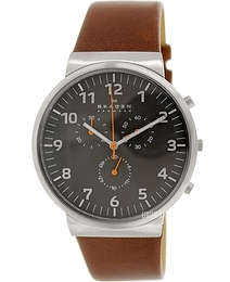 Skagen Ancher Grå/Læder Ø40 mm SKW6099