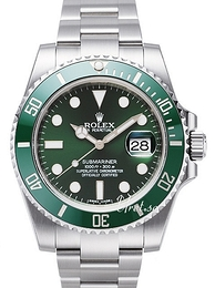 Rolex Submariner Grøn/Stål Ø40 mm 116610LV-0002