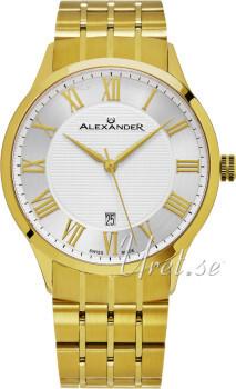 Alexander Statesman Sølvfarvet/Gul guldtonet stål