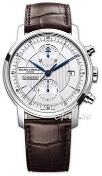 Baume & Mercier Classima Executives Sølvfarvet/Læder Ø42 mm
