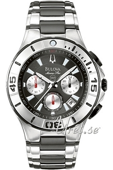 Bulova Marine Star Sort/Stål Ø42 mm