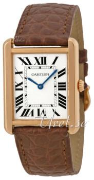 Cartier Tank Solo Sølvfarvet/Læder