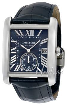 Cartier Tank MC Blå/Læder