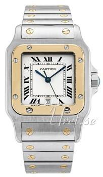 Cartier Santos de Cartier Large Hvid/Stål 29x29 mm
