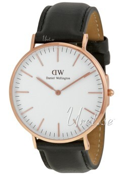 Daniel Wellington Classic Sheffield Antikhvid/Læder Ø40 mm